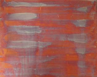 Foglia di rame su tela 40 x 50 cm